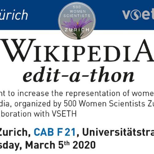 500 Women Scientists – Editathon in Zürich